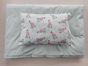 Textil - VLNIENKA Detské obliečky do postieľky na mieru  100% bavlna MINT FR MACKO a MINT FR TROJUHOLNÍK - 11981895_