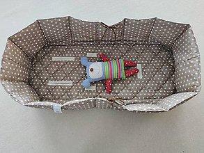 Textil - Vlnienka Hniezdo do vaničky kočíka 100% bavlna Hviezdička béžová na mieru - 11981932_