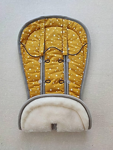 Textil - Vlnienka podložka do kočíka BUGABOO Bee / Buffalo/ Cameleon/ Donkey/ Joolz 100% WOOL Seat Liner Mustard Yellow - 11982131_