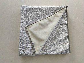Úžitkový textil - VLNIENKA Deka 100% ovčie rúno MERINO ELEGANT Lístočky grey - 11982186_