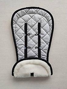 Textil - Vlnienka MERINO podložka do kočíka BUGABOO Bee / Buffalo/ Cameleon/ Donkey/ FOX 100% WOOL Seat Liner Elegant grey - 11982288_