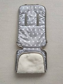 Textil - VLNIENKA  podložka ABC DESIGN 100% WOOL MERINO Grey pastelová šedá Bodka - 11982304_