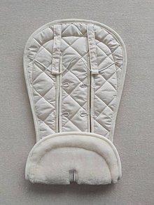 Textil - VLNIENKA Podložka do kočíka CYBEX Priam Lux proti poteniu 100 % merino top Off White prírodná biela - 11982332_