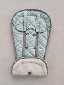 Textil - VLNIENKA Podložka do kočíka CYBEX Priam Lux proti poteniu 100 % merino top Mint mentolová - 11982350_