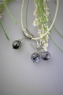 Sady šperkov - náušnice a prívesok turmalín - luxusný set - 11981964_