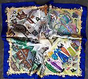 Šatky - Životné príbehy - hodvábna maľovaná šatka - 11978459_