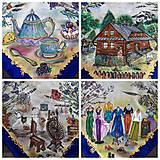 Šatky - Životné príbehy - hodvábna maľovaná šatka - 11978471_