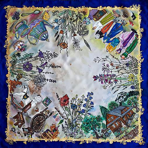 Životné príbehy - hodvábna maľovaná šatka