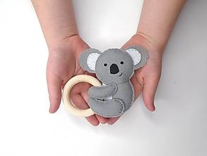Hračky - Hrkálka do ručičky (Koala) - 11979396_