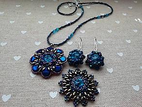 Sady šperkov - Modrý set - 11980172_