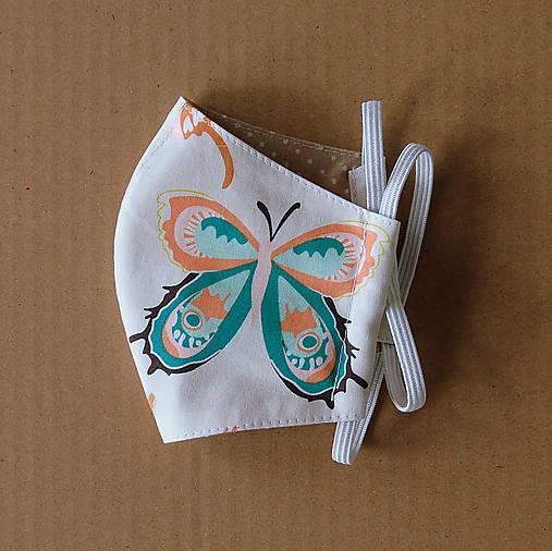 Rúško detské - S veľkými motýľmi