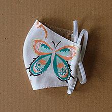 Rúška - Rúško detské - S veľkými motýľmi - 11980029_