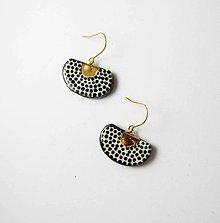 Náušnice - TANA hand made jewellery - keramika/zlato - 11980065_
