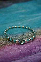 Náramky - Smaragdový náramok - 11981386_