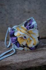 Rúška - Rúško so žltým kvetom - 11981677_