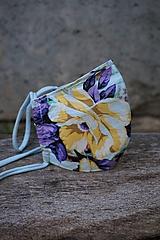 Rúška - Rúško so žltým kvetom - 11981686_