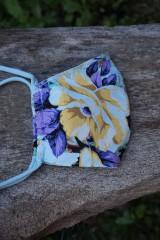 Rúška - Rúško so žltým kvetom - 11981690_