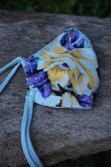 Rúška - Rúško so žltým kvetom - 11981708_