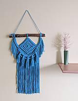 Dekorácie - Macramé Boho záves tyrkysovo modrý - 11978973_
