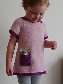 Detské oblečenie - Pletená tunika s vreckom - 11980256_