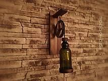 Svietidlá a sviečky - Rustikálna lampa-Olive - 11978614_