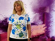 Tričká - Ručne kreslené originálne ART tričko na značkovom materiály - 11981001_