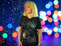 Tričká - Ručne kreslené originálne ART tričko na značkovom materiály - 11981039_