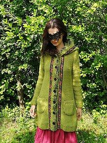 Svetre/Pulóvre - AKCIA - zo 199€ na 79€. Vlnený sveter, kabátik – Zelená lúka - 11980950_