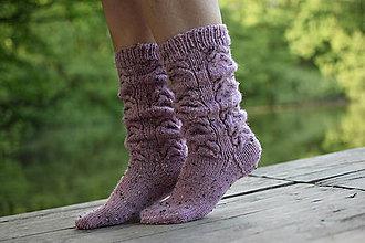 Obuv - ružové osmičkové tweed ( v.38-40) - 11981094_