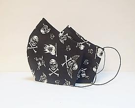 Rúška - Textilné rúško na tvár dvojvrstvové - SMRTKY pre mužov - 11981659_