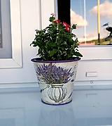 Nádoby - plechový kvetináč levanduľa No.1 - 11982388_