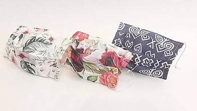 Rúška - JEDNOVRSTVOVÉ ĽANOVÉ  elegantné dámske rúška na tvár, balíček 3 ks/ - 11986432_