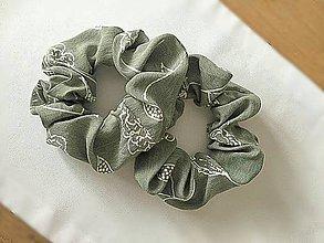 Ozdoby do vlasov - Scrunchie gumka do vlasov - 11983680_