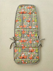 Textil - BRITAX GO BIG Podložka univerzálna do kočíka na mieru 100% Merino Top super wash Líštičky šedé FOX GREY - 11982963_