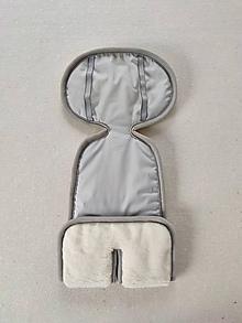 Textil - VLNIENKA Podložka do autosedačky vajíčka 0+  0-13 kg 100% Merino proti poteniu a prechladnutiu Grey pastelová šedá - 11986670_