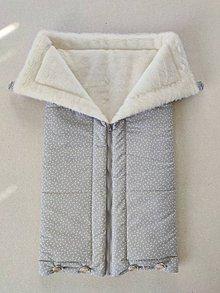 Textil - Vlnienka Deka a fusak DANIEL 2 v 1 100% merino Top Super wash Triangel Grey - 11987147_