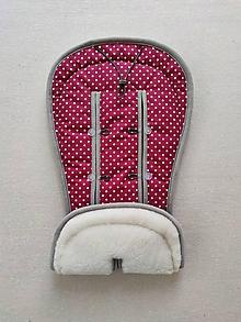 Textil - VLNIENKA podložka do kočíka BUGABOO Bee / Buffalo/ Cameleon/ Donkey/ FOX 100% WOOL Seat Liner BODKA Bordová - 11987542_