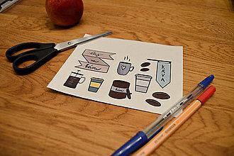 Papiernictvo - Nálepky - čas na kávy - 11987242_