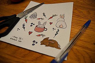 Papiernictvo - Nálepky - králičí život - 11987294_
