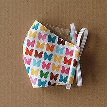 Rúška - Rúško detské - S farebnými motýľmi - 11986205_