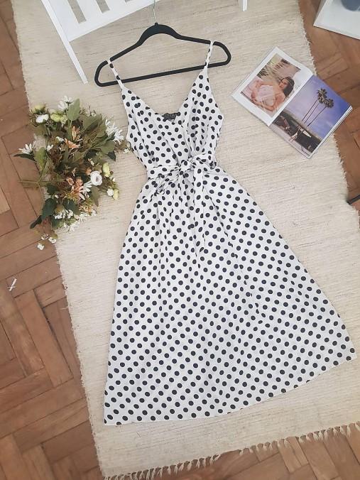 Šaty - Letné midi šaty zelené  - 11983465_