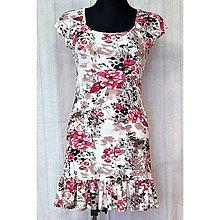 Šaty - Letné mini šaty s volánom - 11982684_
