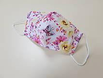 Rúška - Letné bavlnené rúško - Motýle - 11986148_