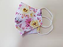 Rúška - Letné bavlnené rúško - Motýle - 11986152_