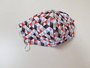 Rúška - Pánske bavlnene dizajnove rusko (Cervene kocky) - 11986068_