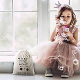 Úžitkový textil - Vrecko LiLu - malá princezná / malý princ (VEĽKÉ prírodné - 100% bavlna) - 11983305_