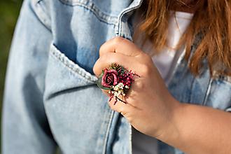 """Prstene - Kvetinový prstienok """"v lese po zotmení"""" - 11984189_"""