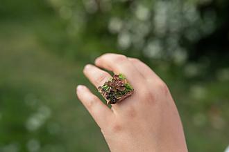 """Prstene - Prstienok """"tajomstvá lesných víl"""" - naturálny - 11987053_"""