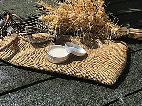 Materiál ručne robený - Karnaubský krém so včelím voskom 10ml - 11983901_