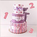 Detské doplnky - Plienková torta TRIO - 11984468_